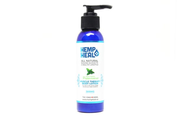 Blue pump bottle of lotion